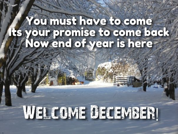 welcome december wallpaper quotes