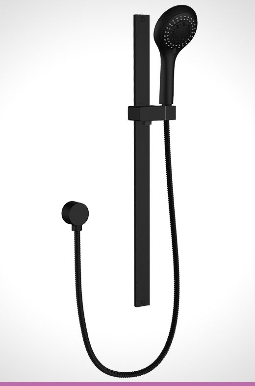 Vivace matte black 5 function shower rail