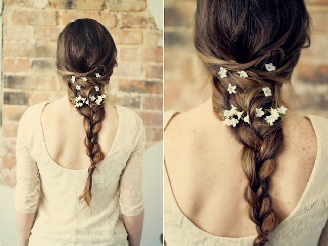 Diy Hippie hair braid tutorial. Perfect for a wedding or fun for a summer festival. It'd be nice to have hair this long....