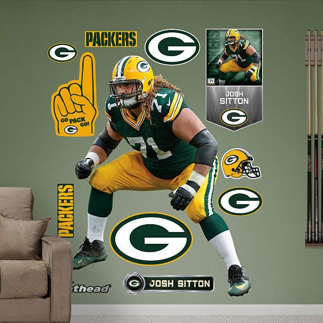 Wonderful Fathead Green Bay Packers Josh Sitton Wall Graphic   Wall Sticker Outlet Part 22