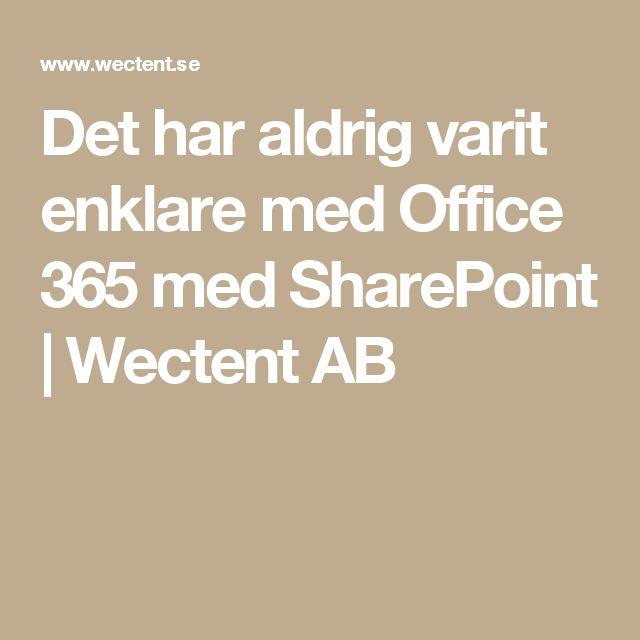 Det har aldrig varit enklare med Office 365 med SharePoint | Wectent AB