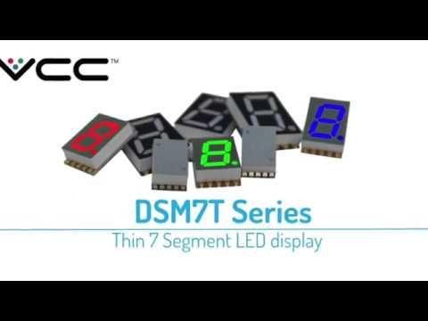 VCC (Visual Communications Company) anuncia una nueva serie de displays LED de 7 segmentos SMT de un solo dígito diseñados especialmente para un proceso de montaje automático por pick-and-place para reducir los costos de producción.