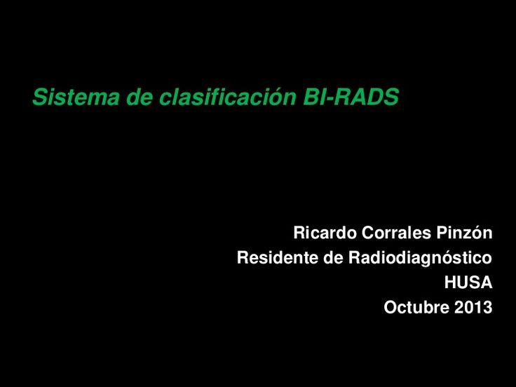 Presentación muy buena sobre la clasificación BI-RADS