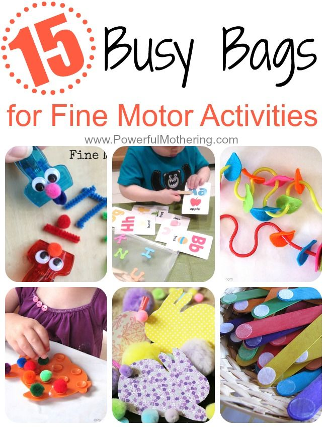 15 Busy Bags for Fine Motor skill Activities your toddler will love!