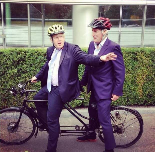 Jeremy Paxman's last Newsnight to see tandem bicycle ride with Boris Johnson - News - TV & Radio - The Independent