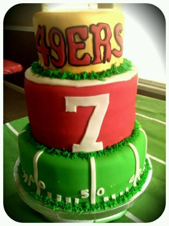 49ers Cake #7 Colin Kapernick