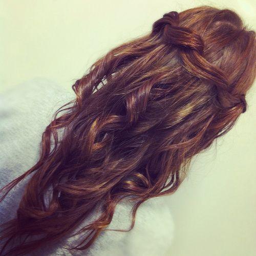 Pretty curls   #curls #braid #hair