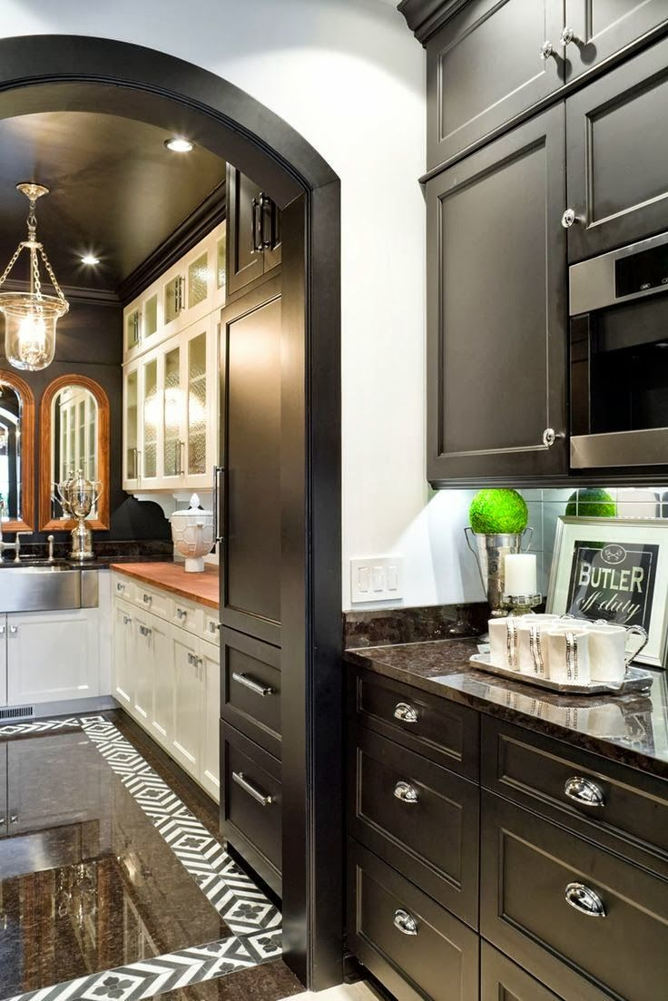 Black cabs butler 39 s pantry kitchen trends design for Kitchen designs with butler pantry