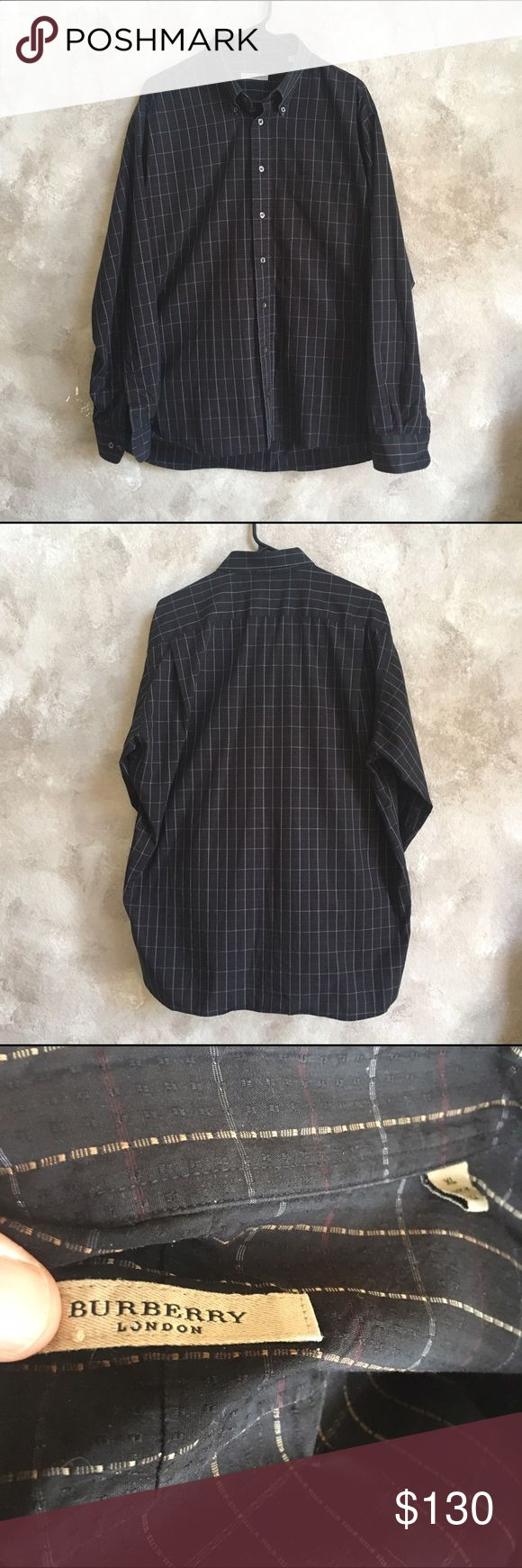Burberry men's button down shirt XL This shirt is in great condition. No holes or snags. Looks new! Burberry Shirts Casual Button Down Shirts