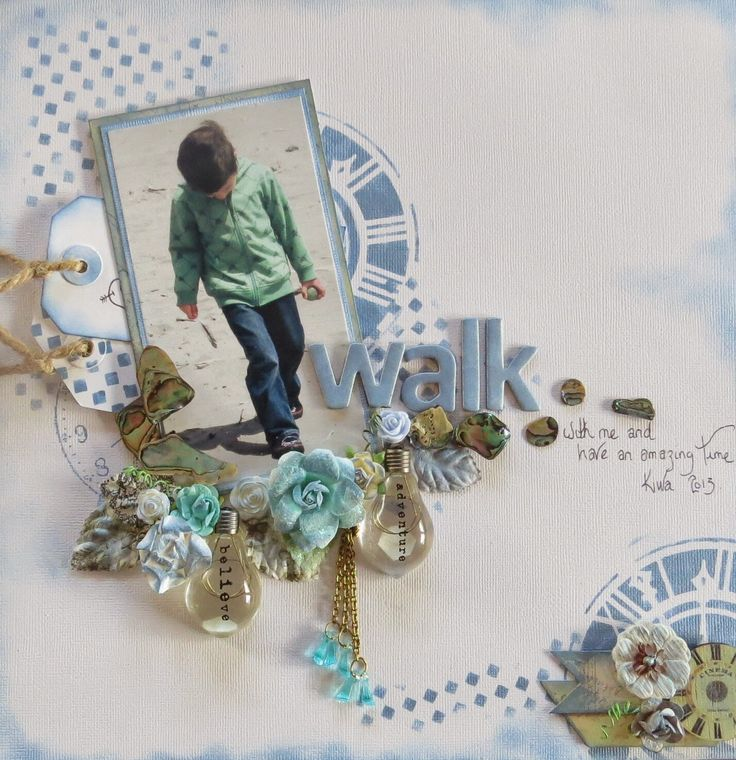 Happy new year 2015 'WALK with me' layout  - Sketc...