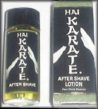 Hai Karate Aftershave. I remember those wild commercials.
