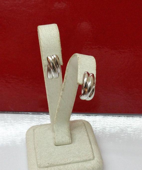 Ohrringe Ohrstecker Silber 925 Vintage 60er SO133 von Schmuckbaron