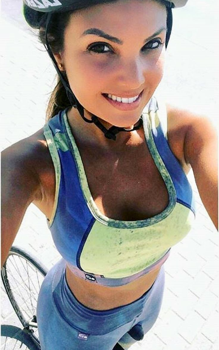 There is nothing quite so beautiful as a women with a bike.