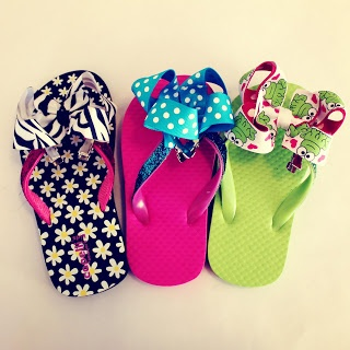 It's {always} All About Ribbon: Project: Flip Flop Shop