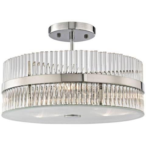 "Nescott 14"" Wide Polished Chrome 3-Light Ceiling Light - #9X462   Lamps Plus"