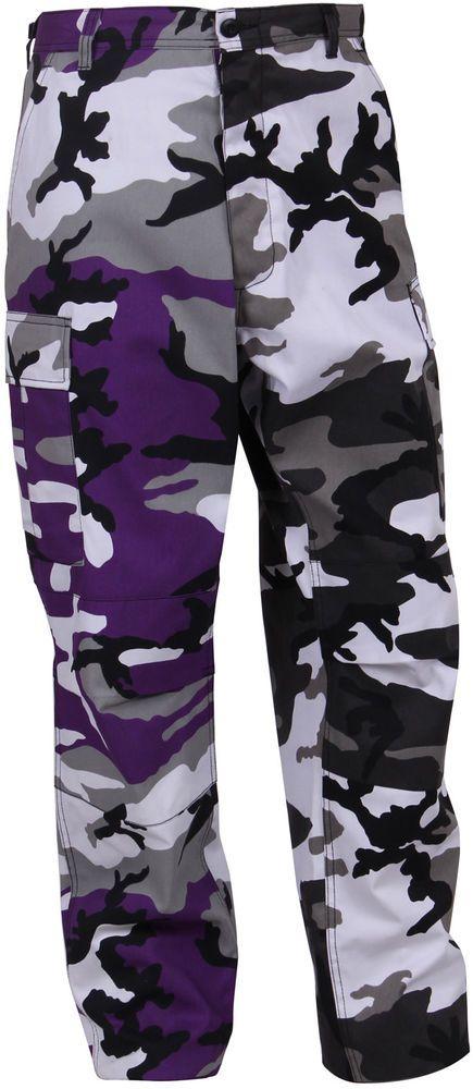 Purple   White City Camouflage Two Tone Fashion Icon BDU Cargo Pants  Trousers  Rothco  CargoBDUPants f1c6fc6e5