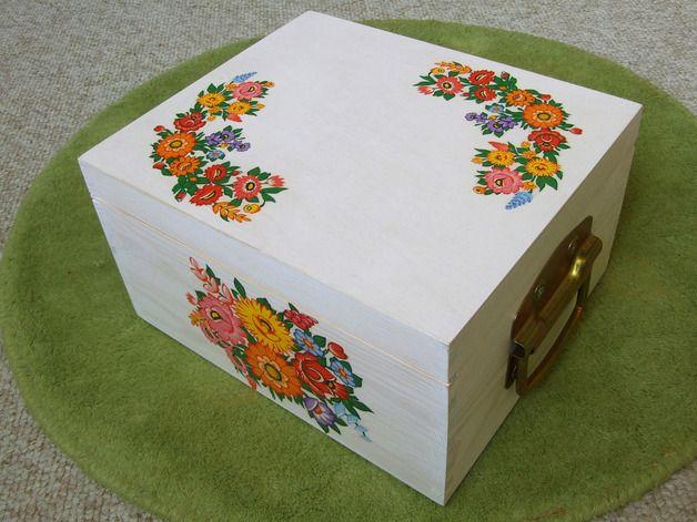 Chests – Wooden Box Chest Trunk Retro Ethno Folk Decoupage – a unique product by Artfolk on DaWanda