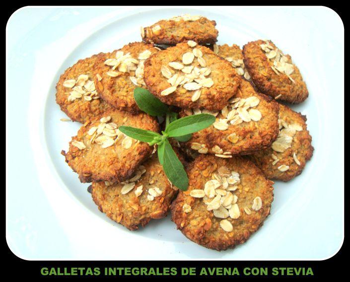 Galletas Integrales de Avena con Stevia