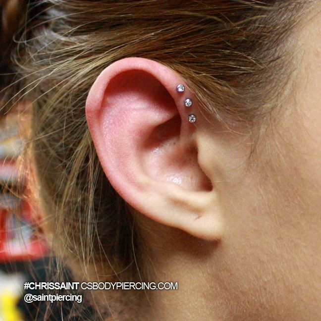 Triple forward helix! This is gonna hurt like hell but I wanna gauge them to 14s