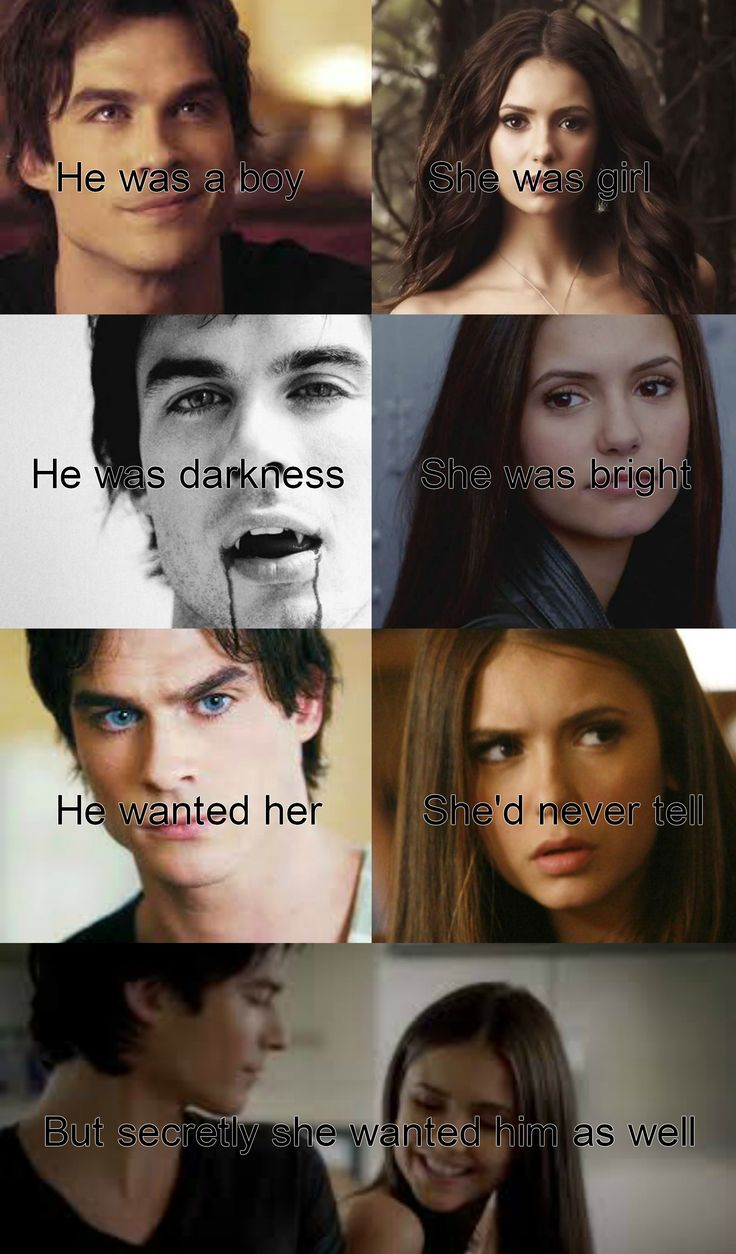 The Vampire Diaries Damon And Elena He Was A Boy She