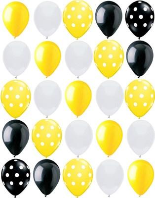 "25ct Polka Dot Bumble Bee Mix Yellow Black White 11"" Latex Party Balloons | eBay"