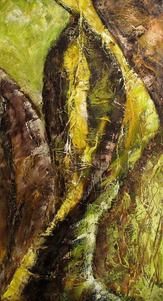 Esprit de Jungle Oil on Canvas - 50 x 100 cm www.facebook.com/lesliefolleart