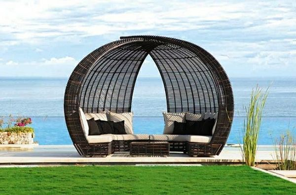 wunderbare loungem bel rattan f r drau en garten. Black Bedroom Furniture Sets. Home Design Ideas