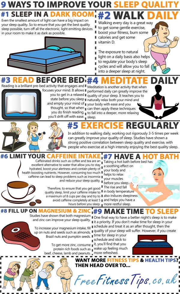 "HEALTHY LIFESTYLE -         ""Improve the quality of the sleep you get each night with these nine top tips..."""
