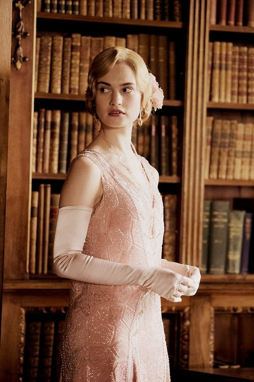 Lady Rose in Donwton Abbey season 5. love this dress