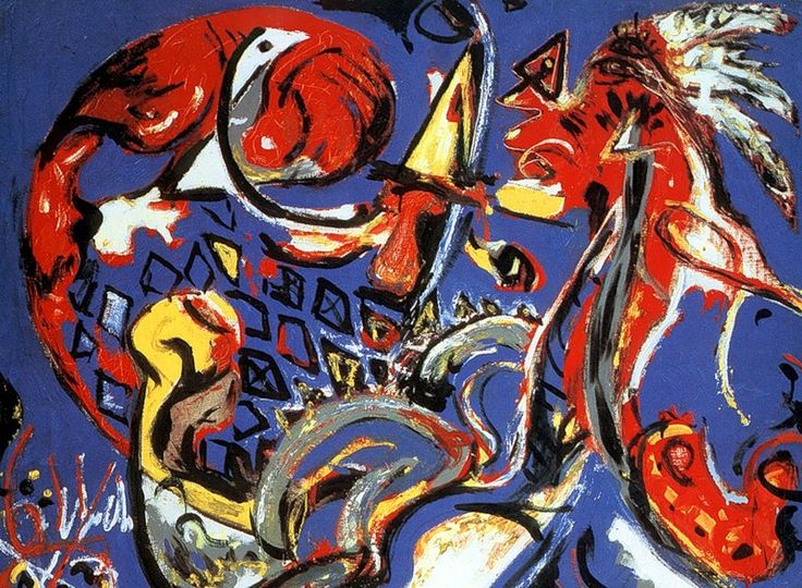 Джексон Поллок (Jackson Pollock) Лунная женщина разрывает круг. 1943
