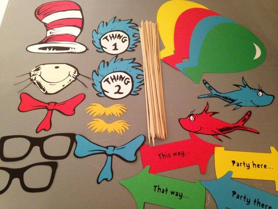 Cat In The Hat Photo Props Cat In The Hat Party Pinterest Hat