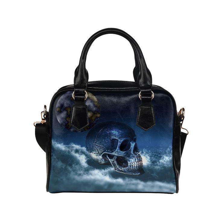 Skull and Moon Shoulder Handbag (Model 1634)