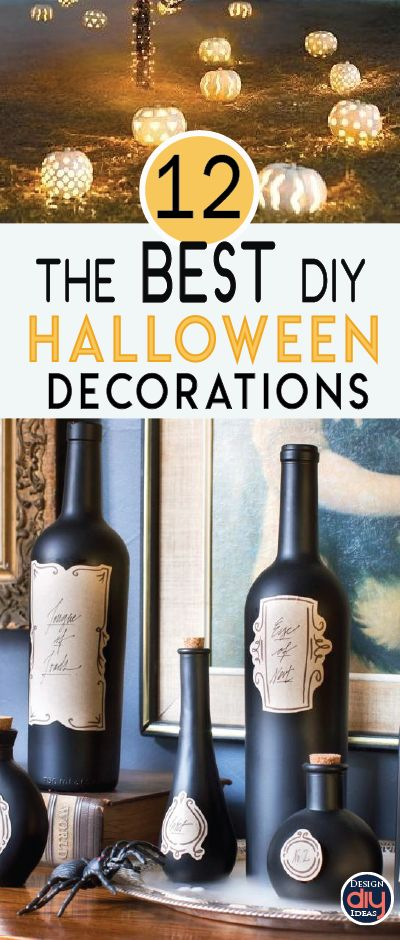 When done right, Halloween décor can be beautiful, chic, and inexpensive. Check out these BEST DIY Halloween decoration ideas.