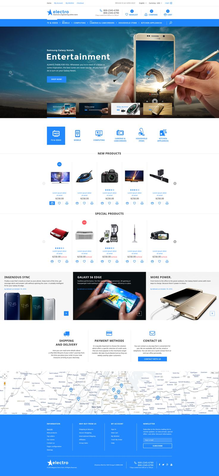 Coming soon Home Electronics Magento Template. Check Out