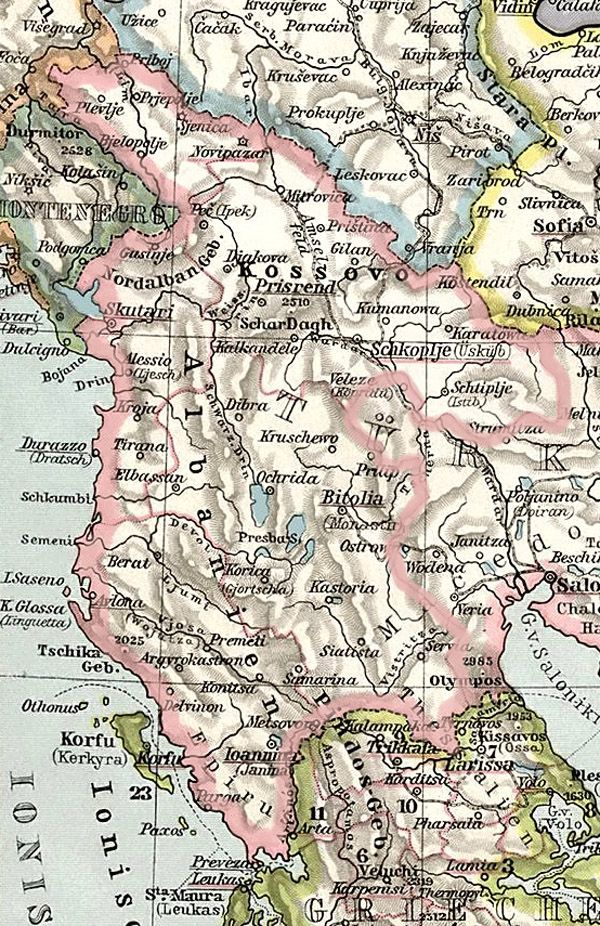 Albanian Vilayet Proposed By The League Of Prizren In 1878