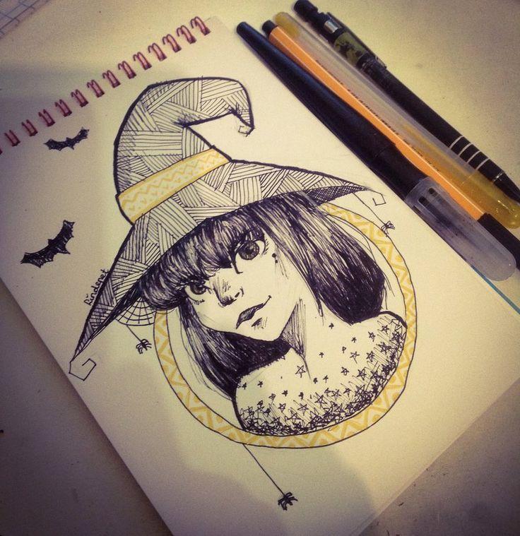 -Little witch- by lindepet.deviantart.com on @DeviantArt