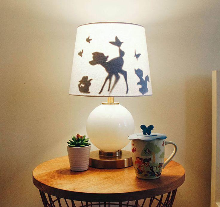 Use a Coloring Page to make a DIY Bambi Lampshade