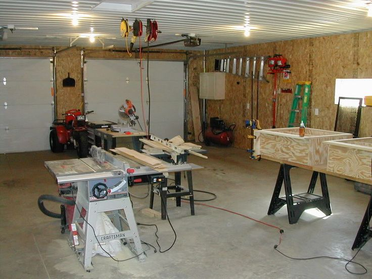 Garage Finished with osb sheets not drywall