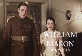 #DowntonAbbey | William Mason, soldier, footmen butler and husband of Daisy, he didn't recover from war-wounds.