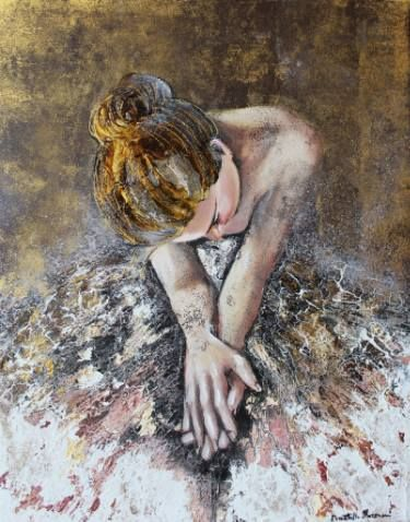 """Saatchi Art Artist Donatella Marraoni; Painting, """"Lost in her hall, she can't hear me"""" #art"""