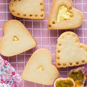 Granadilla Heart Delights #Bakes #Biscuits #Dessert #SouthAfrica