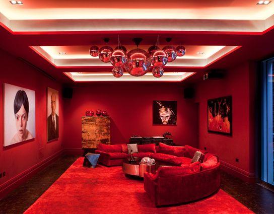 art studio lighting design. The Lighting Design Studio; Basement With Coffer Detail. Painted Red Art Studio