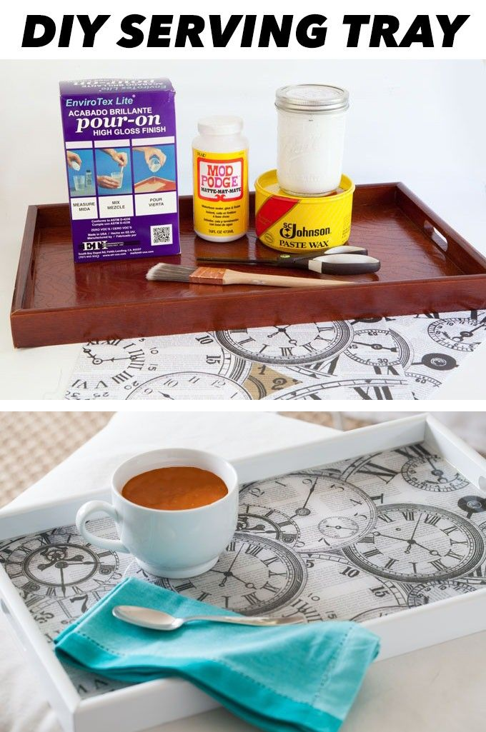 #DIY Serving Tray ❤︎ Easy To Make & Customize To Your Decor For A One Of A Kind Look Everyone Is Going TO Admire