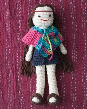 Stay groovy with this hippie-inspired Lily doll with her own cute multicolored poncho!