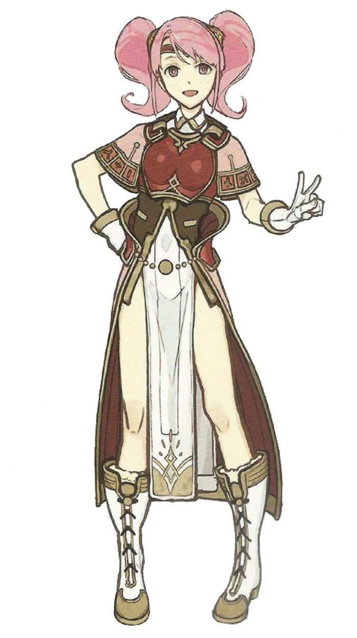 Mae character concept artwork from Fire Emblem Echoes