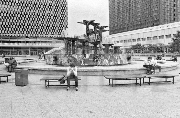 Alexanderplatz, Ost-Berlin am 14.7.1984