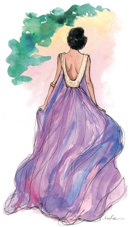 Stunning Dress illustration, drawing / Bellissimo vestito, illustrazione, disegno - Art by Inslee Haynes