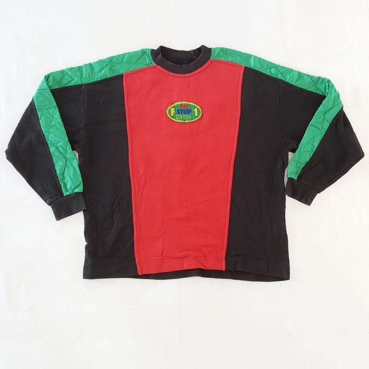 Vintage 80s Benetton Formula 1 Pit Stop Crew Neck Racing Team F1 Patch Sweatshirt Large for sale!    http://www.ebay.com/itm/Vtg-80s-Benetton-Formula-1-Pit-Stop-Crew-Neck-Racing-Team-F1-Patch-Sweatshirt-L-/152687729202  #Vintage #80s #BENETTON #Formula1 #RacingTeam #GooseDown #Hoodie #Jacket #FOne #UnitedColorsOfBenetton #Italy #Multicolor #ColorBlock #90s #FreshPrinceOfBelAir #HipHop #Rap #RapTees #XL #UnitedColorsOfBenetton #Benetton #Formula1 #Racing #Team #Italy #80s #Jacket