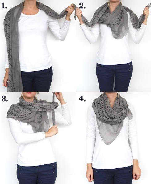 11 Stylish Tutorials On How To Wear A Scarf In Winter | fashion Tips And Ideas by Makeup Tutorials.