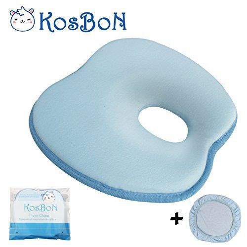 Product review for KSB 9 Inches Blue Soft Memory Foam Baby Pillow Head Positioner Neck Support,Prevent Flat Head Syndrome For 3 Months To 1 Year Old Infant (Apple Shape,Includes Pillow Case)..  - * Size:22.5*21*3cm * Fabric:70% cellolose fibre,30% cotton * Weight:240g/8.5 ounce * Package:1 PC (blue) * Care instructions: Clean the spot with a wet cloth only. Do not immerse it in water as this would harden the memory foam. * Its ergonomic shape provides great neck and head sup